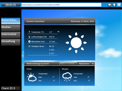 Screenshot CODESYS building automation weather