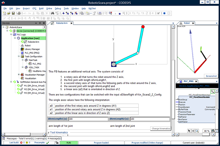 CODESYS SoftMotion CNC: 3D CNC controller integrated in the